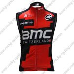 2017 Team BMC Cycle Tank Top Sleeveless Vest Jersey Red Black