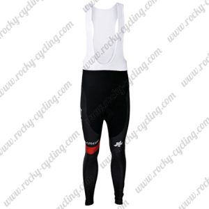 2017 Team BMC Cycling Long Bib Pants Tights Black Red