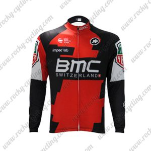 2017 Team BMC Cycling Long Jersey Red Black
