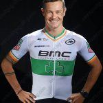 2017 Team BMC Nicolas Roche's Irish champion's Jersey Shirt White Green