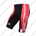 2017 Team DUCATI Cycle Shorts Bottoms Black Red