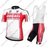 2017 Team DUCATI Cycling Bib Kit White Red