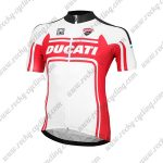 2017 Team DUCATI Cycling Jersey Maillot Shirt White Red