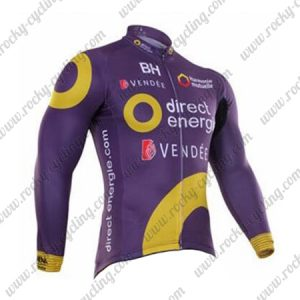 2017 Team Direct energie Cycling Long Jersey Purple
