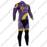 2017 Team Direct energie Cycling Long Suit Purple