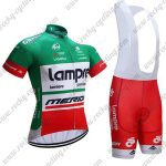 2017 Team Lampre MERIDA Cycling Bib Kit Green Red