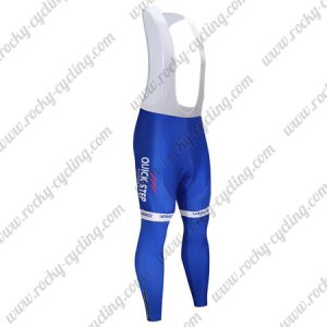 2017 Team QUICK STEP Cycling Bib Pants Tights Blue