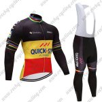 2017 Team QUICK STEP Cycling Bib Suit Black Yellow Red