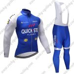 2017 Team QUICK STEP Cycling Long Bib Suit Blue White