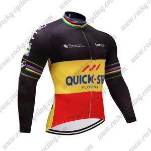 2017 Team QUICK STEP Cycling Long Jersey Black Yellow Red