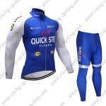 2017 Team QUICK STEP Cycling Long Suit Blue White