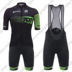2018 Team 707 Santini Cycling Bib Kit Black Green