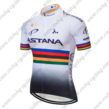 2018 Team ASTANA UCI Champion Biking Apparel Riding Jersey Tops ... 3ce32adf2
