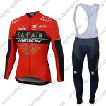 2018 Team BAHRAIN MERIDA Cycling Long Bib Suit Red