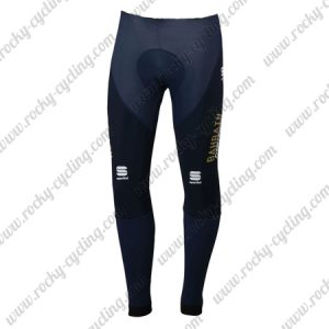 2018 Team BAHRAIN MERIDA Cycling Long Pants Tights Dark Blue