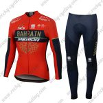 2018 Team BAHRAIN MERIDA Cycling Long Suit Red