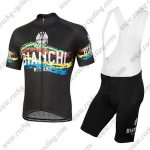2018 Team BIANCHI Cycling Bib Kit Black Colorful