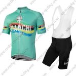 2018 Team BIANCHI Cycling Bib Kit Blue Colorful