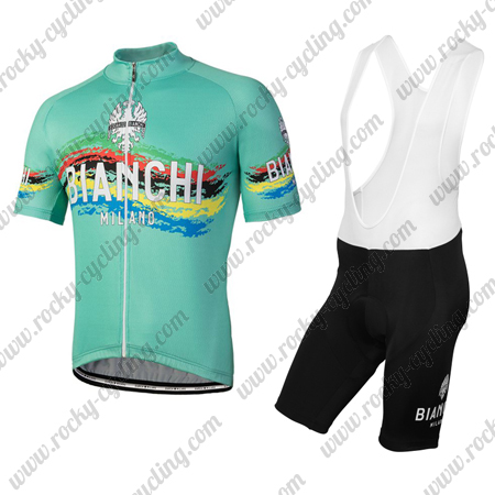 29345c408 2018 Team BIANCHI MILANO Riding Clothing Cycle Jersey and Padded Bib ...