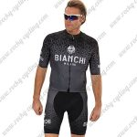 2018 Team BIANCHI Cycling Kit Black Grey
