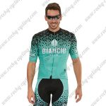 2018 Team BIANCHI Cycling Kit Blue Black