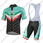 2018 Team BIANCHI MILANO Italy Cycle Bib Kit Green Black