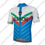 2018 Team BIANCHI MILANO Italy Racing Jersey Shirt White Blue