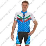 2018 Team BIANCHI MILANO Italy Racing Kit White Blue