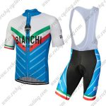 2018 Team BIANCHI MILANO Italy Riding Bib Kit White Blue