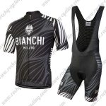 2018 Team BIANCHI Riding Bib Kit Black White Grey