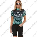 2018 Team BIANCHI Women's Lady Cycle Kit Black Blue Dot