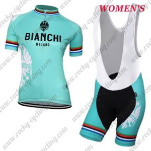 2018 Team BIANCHI Women's Lady Cycling Bib Kit Blue
