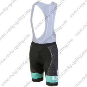 2018 Team BIANCHI Women's Lady Racing Bib Shorts Bottoms Black Blue