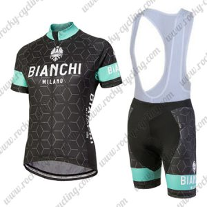2018 Team BIANCHI Women's Lady Riding Bib Kit Black Blue