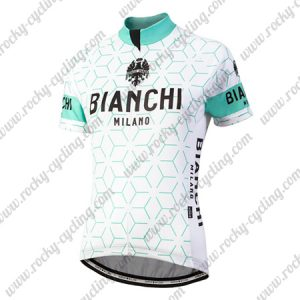 2018 Team BIANCHI Women's Lady Riding Jersey Shirt White Blue