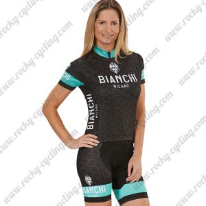 2018 Team BIANCHI Women's Lady Riding Kit Black Blue
