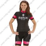 2018 Team BIANCHI Women's Lady Riding Kit Black Pink