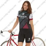 2018 Team BIANCHI Women's Lady Riding Kit Black White Red