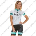 2018 Team BIANCHI Women's Lady Riding Kit White Blue