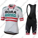 2018 Team BORA hansgrohe Austria Cycling Bib Kit White