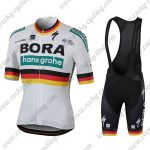 2018 Team BORA hansgrohe Germany Cycling Bib Kit White