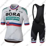 2018 Team BORA hansgrohe Slovakia Cycling Bib Kit White