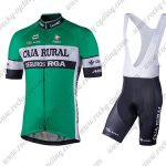 2018 Team CAJA RURAL Cycle Bib Kit Green