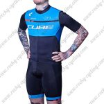 2018 Team CUBE Cycling Kit Black Blue