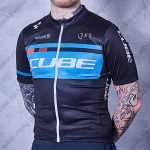 2018 Team CUBE Pro Cycling Jersey Maillot Shirt Black Blue