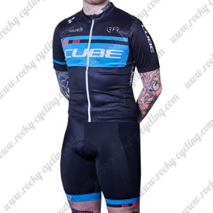 2018 Team CUBE Pro Cycling Kit Black Blue
