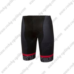 2018 Team Castelli Bicycle Shorts Bottoms Black Red
