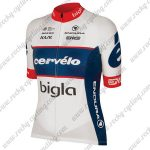 2018 Team Cervelo Bigla Cycling Jersey Maillot Shirt White Blue Red