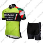 2018 Team EUSKADI Cycle Kit Green Black