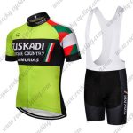 2018 Team EUSKADI Cycling Bib Kit Green Black